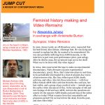 Feminist History Making and Video Remains: A Dialogue with Antoinette Burton photo