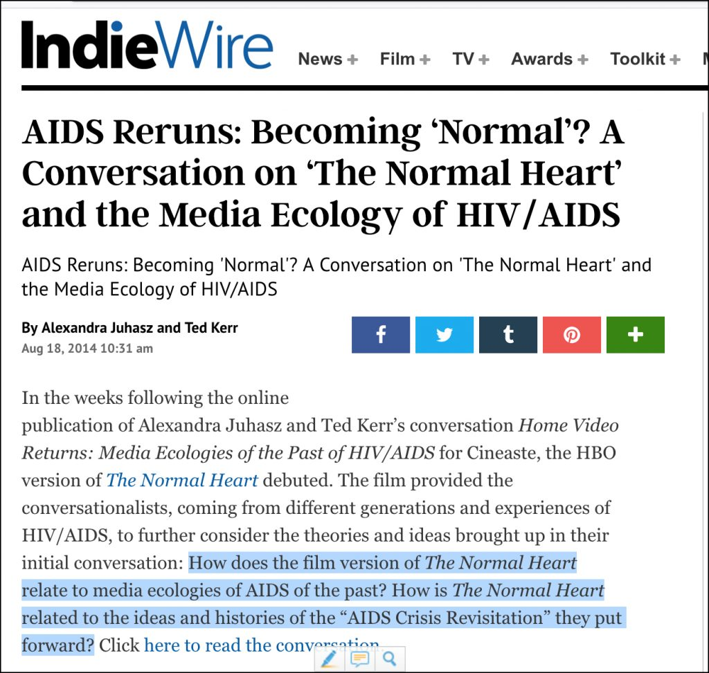 AIDS Reruns: Becoming 'Normal'? photo