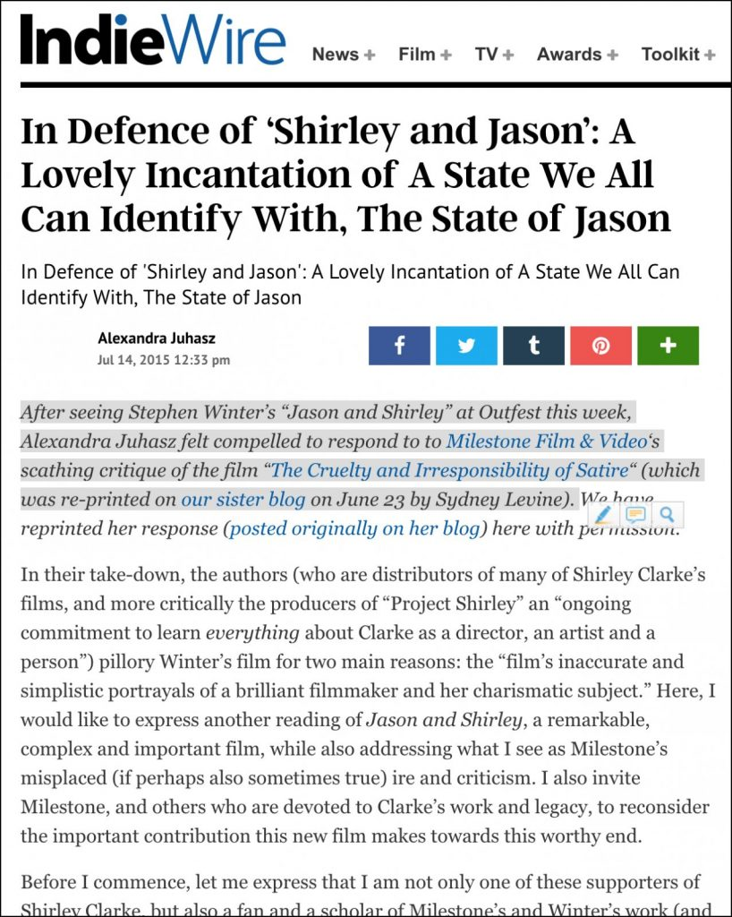 In Defence of 'Shirley and Jason' photo